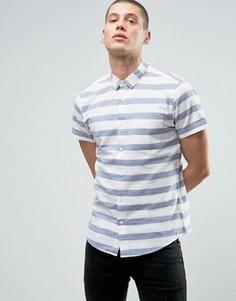 Рубашка в полоску Threadbare - Синий