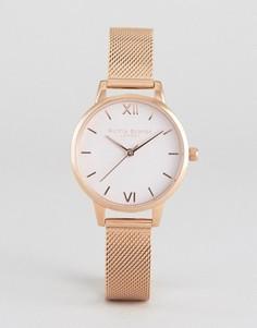 Часы с сетчатым браслетом Olivia Burton Begin To Blush - Золотой
