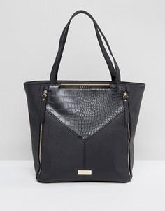 Черная сумка-шоппер с молниями Lipsy - Черный