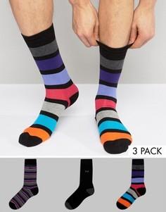 3 пары носков в полоску Pringle - Мульти