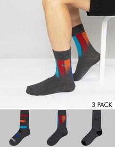 3 пары черных носков Pringle - Серый
