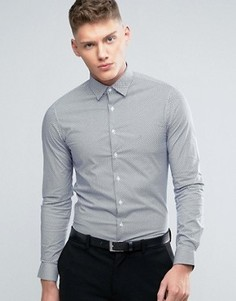 Узкая рубашка с геометрическим принтом Calvin Klein - Синий