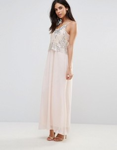 Платье макси с пайетками Club L - Розовый