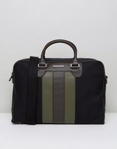 Большая сумка для ноутбука с полосками Tommy Hilfiger - Черный