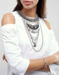 Короткое ожерелье в несколько рядов ALDO - Серебряный