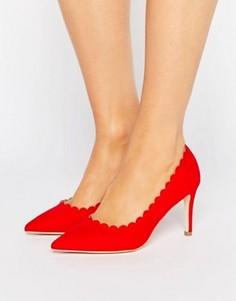Туфли-лодочки с фактурной отделкой по краю London Rebel - Красный