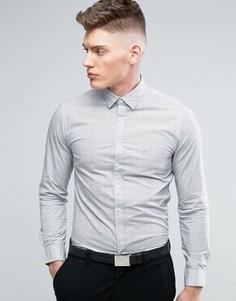 Рубашка классического кроя с мелким принтом Calvin Klein - Белый