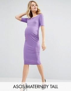 Платье с укороченными рукавами ASOS Maternity TALL - Фиолетовый