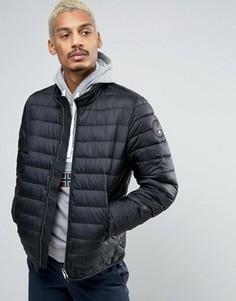 Черная дутая куртка Napapijri Aerons Stand - Черный