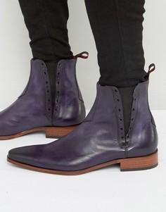 Кожаные ботинки челси Jeffery West Yardbird - Фиолетовый
