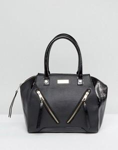Черная сумка с двумя молниями спереди Lipsy - Черный