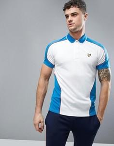 Двухцветная сетчатая футболка-поло Lyle & Scott Fitness Hendry - Белый