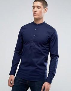 Приталенная рубашка Only & Sons - Темно-синий