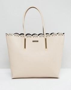 Телесная сумка-шоппер с фигурными краями Lipsy - Розовый