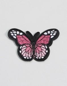 Термоклейкая переводная картинка с бабочкой DesignB London - Мульти