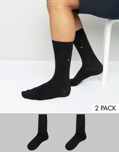 2 пары классических черных носков Tommy Hilfiger - Черный