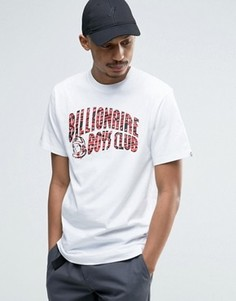 Футболка с принтом и логотипом Billionaire Boys Club - Белый