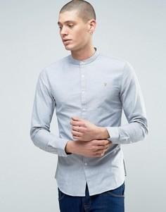 Рубашка на пуговицах с логотипом Farah Brewer - Серый