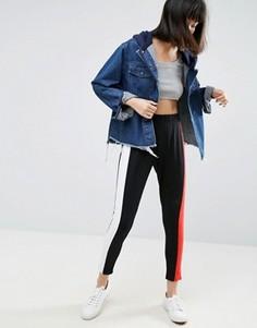 Спортивные брюки узкого кроя с молниями ASOS - Мульти