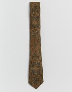 Зеленый галстук с принтом пейсли ASOS - Мульти