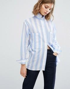 Рубашка бойфренда в полоску Vale Woven - Мульти