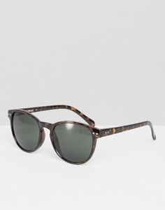 Круглые солнцезащитные очки в черепаховой оправе AJ Morgan - Коричневый