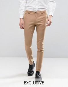Супероблегающие строгие брюки песочного цвета Noak - Рыжий