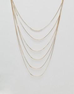 Многорядное ожерелье с эффектом драпировки DesignB - Золотой