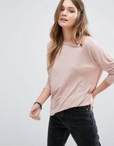 Топ с вырезами на плечах New Look - Розовый