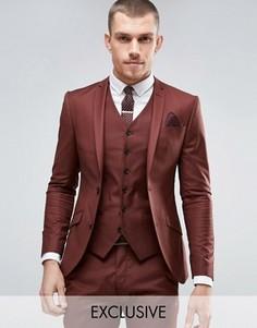 Коричневый супероблегающий пиджак Heart & Dagger - Коричневый