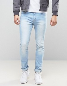 Светло-голубые эластичные джинсы скинни Loyalty and Faith - Синий