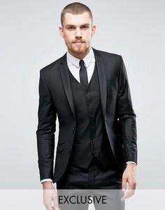Черный приталенный пиджак Heart & Dagger - Черный