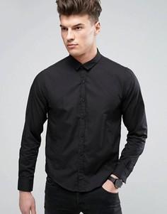 Строгая узкая рубашка Brave Soul - Черный