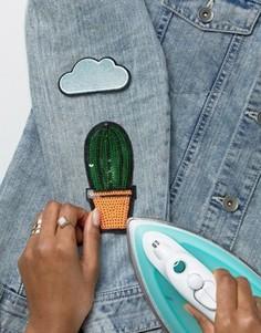 Термонашивки с кактусом и облаком DesignB - Мульти
