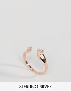 Кольцо из позолоченного серебра с камнем ASOS - Медный
