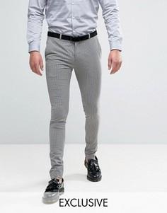 Супероблегающие брюки в клеточку Heart & Dagger - Коричневый