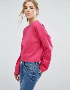 Свитшот с широкими рукавами New Look - Розовый