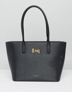 Небольшая сумка для покупок с бантиком и молнией Ted Baker - Черный