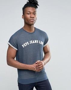 Свитшот с короткими рукавами и логотипом Pepe Jeans - Синий