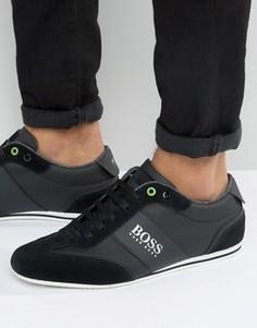 Кроссовки с замшевой отделкой и логотипом BOSS Green by Hugo Boss - Черный