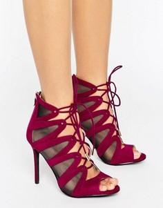 Сандалии на каблуке с завязками Forever Unique Darcy - Красный