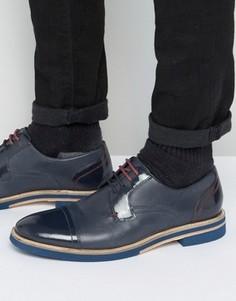 Темно-синие кожаные туфли-дерби Ted Baker Braythe 2 - Синий