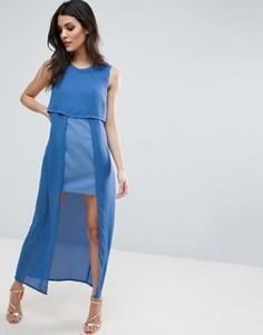 Двухслойное платье макси Jovonna Icing On The Cake - Синий