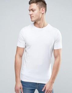 Белая обтягивающая футболка New Look - Темно-синий