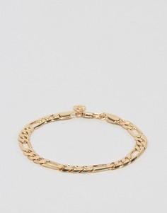 Золотистый браслет из цепочки плетения фигаро Chained & Able - Золотой