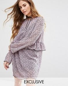 Шифоновое платье-комбинация Reclaimed Vintage - Фиолетовый