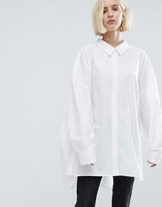 Oversize-рубашка Weekday - Белый