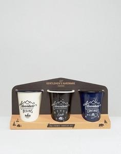 3 эмалированных стакана Gentlemens Hardware - Мульти