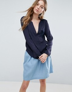 Свободная блузка See U Soon - Темно-синий