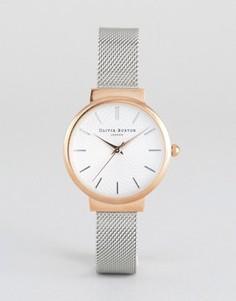 Часы с сетчатым металлическим ремешком Olivia Burton Hackney - Серебряный